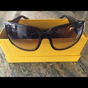 d81c4c0e1380 FENDI Accessories - Authentic FENDI black sunglasses with case   box!
