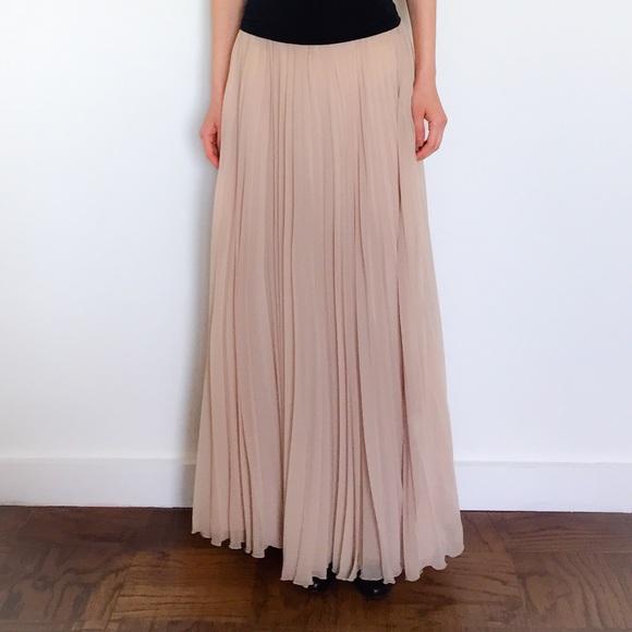 67 zara dresses skirts zara pleated maxi skirt