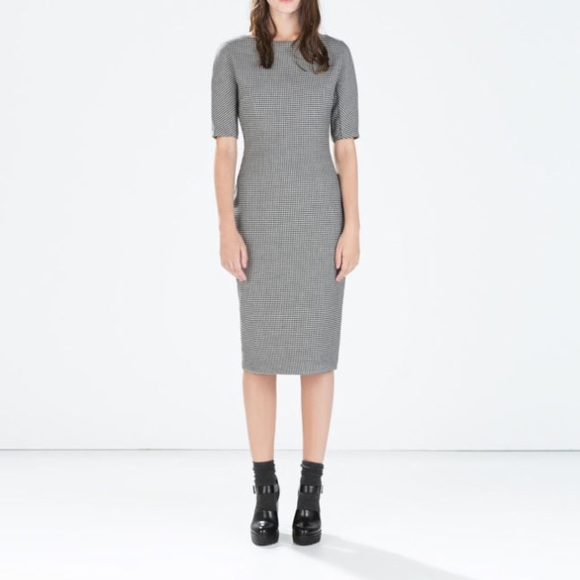 48665886 Zara Dresses | Boat Neck Pencil Dress | Poshmark