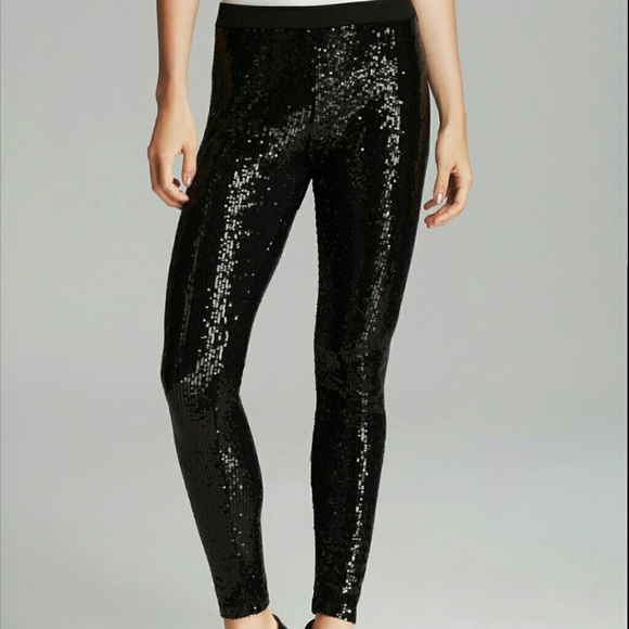 ab023c60848fa Forever 21 Pants - Black sequin leggings Forever 21