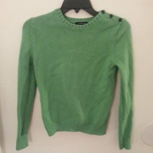 Land's end green sweater