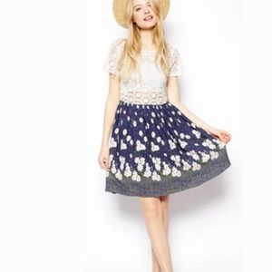 Asos crochet floral dress us size 4