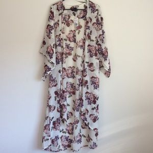 Forever 21 Tops - Floral maxi kimono