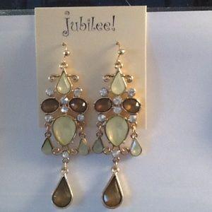 Chandelier Gold Tone Earrings