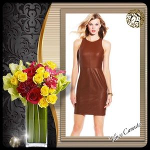 Vince Camuto Leather Dress