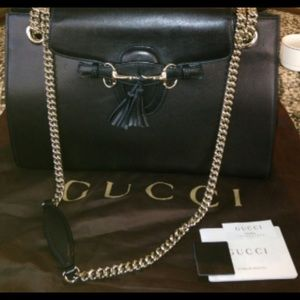 Gucci Emily Soft Leather Chain Bag. NWT!