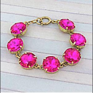 Large Crystal Bracelet in pink