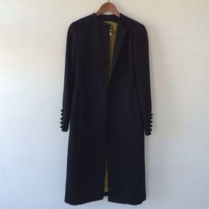 Textured wool/silk Cesare Fabbri dress coat.