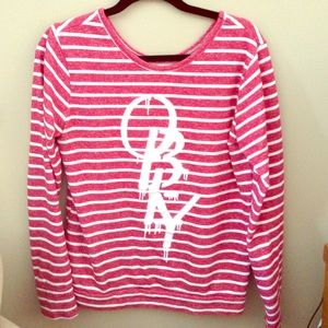 58% off Obey Sweaters - Red and white striped obey ...