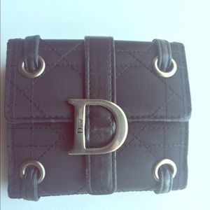 Black Christian Dior Wallet