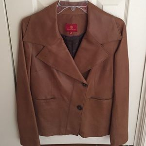 Tan Leather Cole Haan jacket