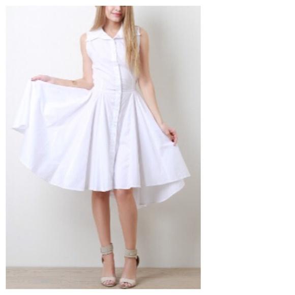 uk cheap sale look good shoes sale pick up Dresses | Sleeveless White Marilyn Buttondown Dress | Poshmark