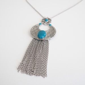 🌟JUST REDUCED🌟Long Necklace w/Genuine Turquoise