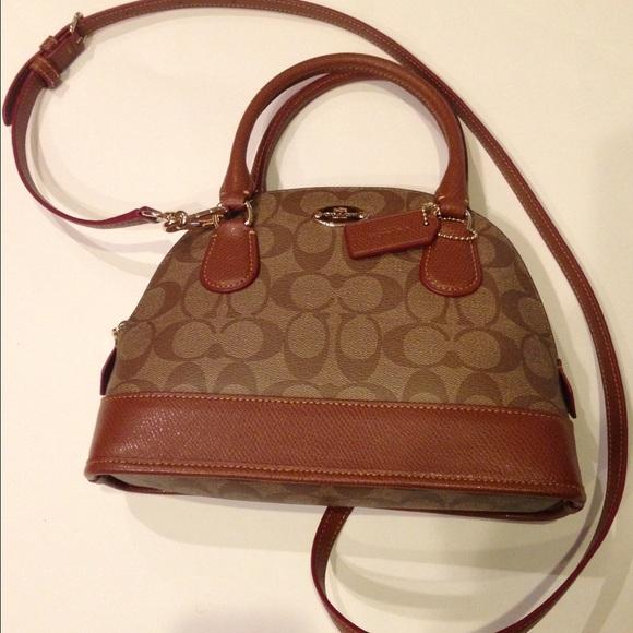 ca47d09a5cfd SOLD----Coach dome signature coated canvas bag