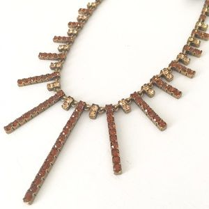 Chocolate brown sunburst necklace