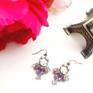 Violet statement earrings