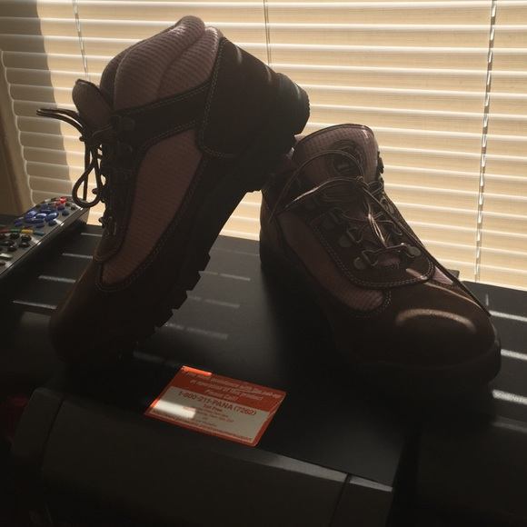 44 timberland boots brown and pink timberlands from