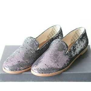 "Matt Bernson | NIB ""Gitanes"" Sequin Smoking Flats"