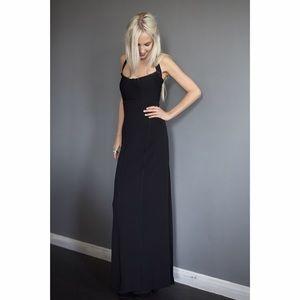 Herve Leger Dresses & Skirts - Herve leger black slit halter dress