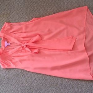 Silk coral lilly Pulitzer blouse