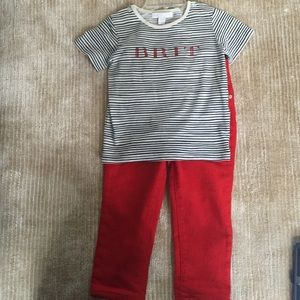 Authentic Burberry boys shirt and jeans size 2