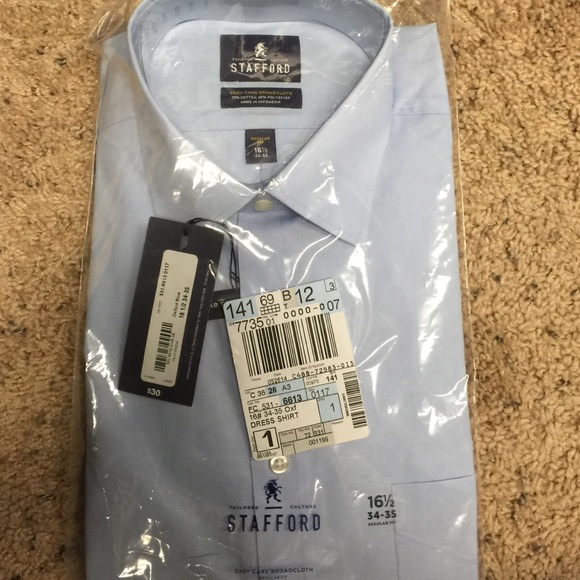 77 off stafford other men light blue dress shirt for Stafford white short sleeve dress shirts