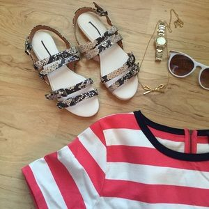 Madewell Shoes - Clemente Sandal in Snakeskin