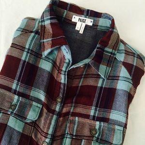 NWT Paige Denim Flannel Shirt