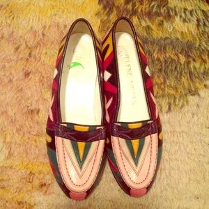 Vintage Shoes - Vintage Helene Arpels loafers in rainbow leather