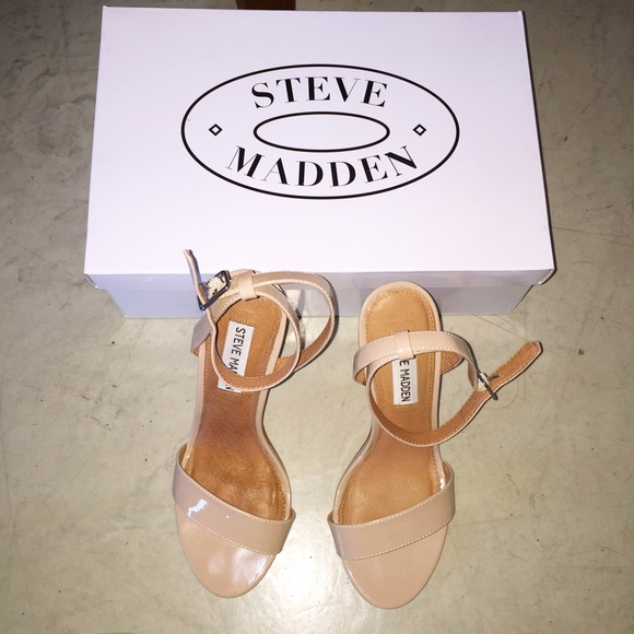 41% off Steve Madden Shoes - Steve Madden Nude Heels Size 6 from