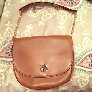 Kate Spade brown leather bag with gold chain