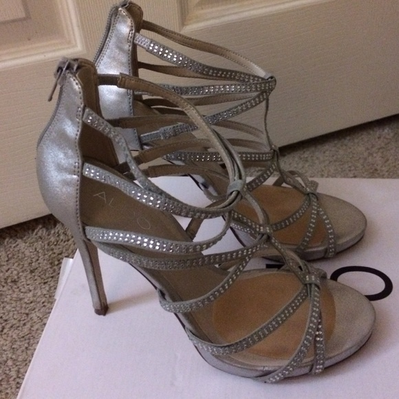 Bridal Shoes Aldo: Aldo Rhinestone Strappy Sandals From