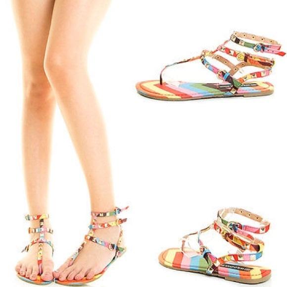 4d96a1e9d5b Valentino rockstud look alike strappy flat sandal