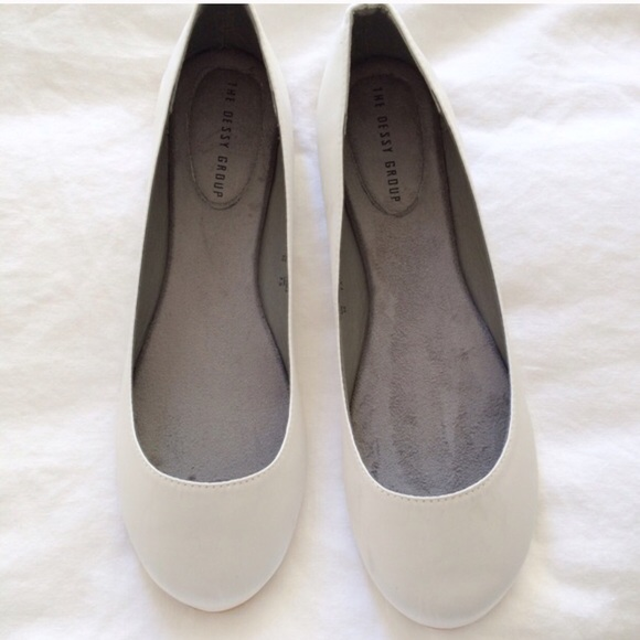 60 shoes white satin flats from s closet on