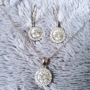 Halo Necklace and Earrings