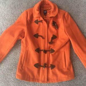 Orange peacoat from Gap!