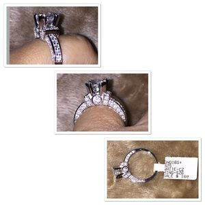 Silver 925 & CZ Beautiful engagement ring
