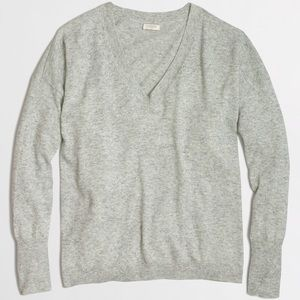 J. Crew Sweaters - NWT J.Crew Factory Gray Draped V-Neck Sweater - M