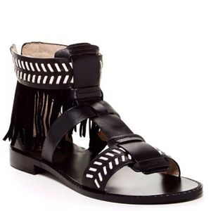 House of Harlow Gayle leather fringe sandals 7.5