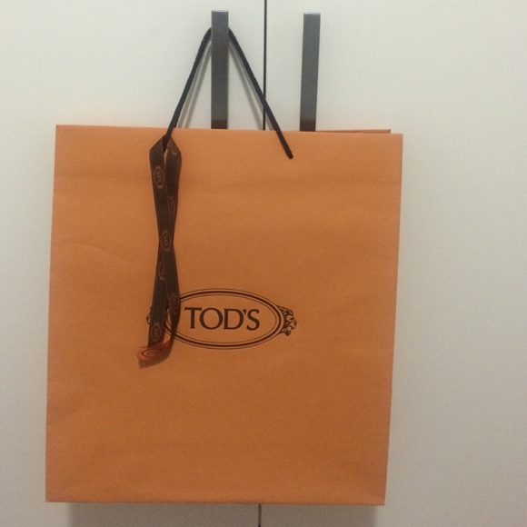 74590876461 Tod's Accessories | Authentic Tods Paper Shoppinggift Bag Ribbon ...