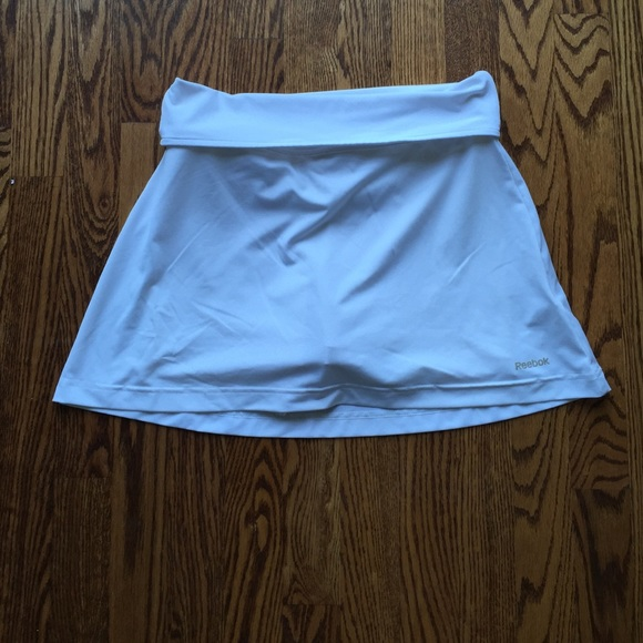 reebok white tennis skirt