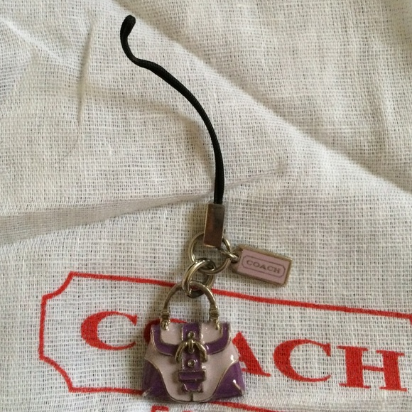 coach purple coach purse phone charm authentic from