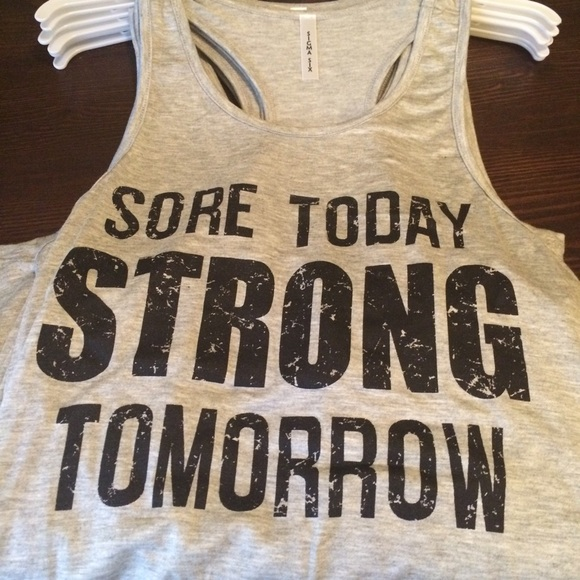 pink berry boutique Tops - Sore today Strong Tomorrow Tank