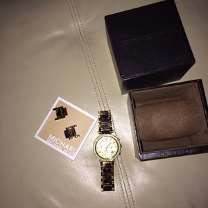 Michael Kors Gold and brown toned watch
