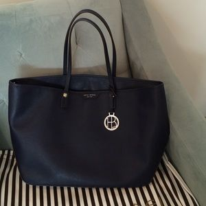 henri bendel Handbags - Henri Bendel Saffiano Leather Navy tote