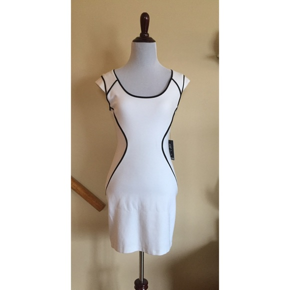 Black and white cocktail dress from express   Style coctail dress