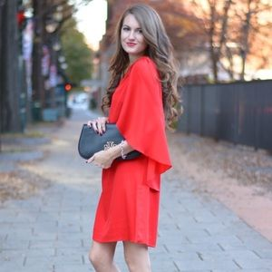 Brand new with tags designer Milly red cape dress