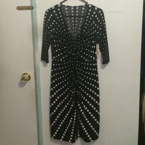 Tahari polka dot dress