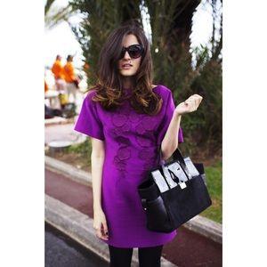Purple Floral Dress H&M Conscious Collection