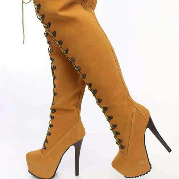 8a23675e3ec New thigh high hiking boots